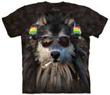 Smoking Rasta Wolf Shirts