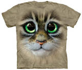 Big Eyes Kitten Face T-shirts