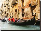 Traditional Venice gondola Stretched Canvas Print