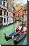 Romantic Gondola Venice Scene Stretched Canvas Print