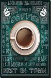 Old Best in Town Coffee Sign Stretched Canvas Print
