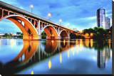 Saskatoon known as Bridge City Stretched Canvas Print