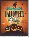 Happy Halloween Party invite Stretched Canvas Print