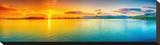 Sunrise Over The Sea Panorama Stretched Canvas Print