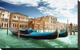 Gondolas In Venice Italy Stretched Canvas Print