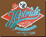Hotride Retro Race Poster Stretched Canvas Print