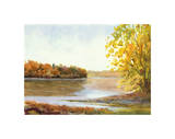 Delaware North from Stockton Giclee Print by Elissa Gore