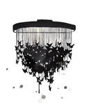 Butterfly Chandelier Prints by Jessica Durrant