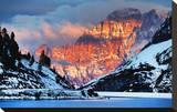 Monte Civetta Dolomites Italy Stretched Canvas Print