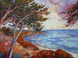 Monterey Cypress Art by Erin Hanson