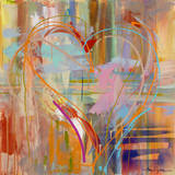 Abstract Heart Pósters por Amy Dixon