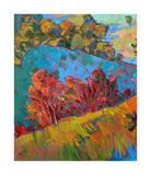 Hills in Quadtych (bottom left) Giclee Print by Erin Hanson
