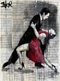 Midnight Tango Lámina por Loui Jover