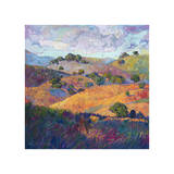 Hills of Paso Giclee Print by Erin Hanson