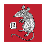 Rat. Chinese Zodiac. Animal Astrological Sign. Poster by  Katyau