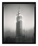Empire State Building Motion Landscape 2 Poster by Len Prince