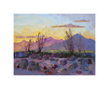Violet Point Giclee Print by Erin Hanson