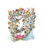 Mhala Hakucho (Swan) Giclee Print by Kiana Mosley