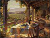 Wine Country Afternoon Mounted Print by Leon Roulette
