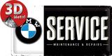 BMW - Service Plaque en métal