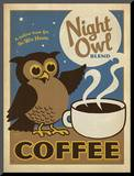 Night Owl Blend Coffee Mounted Print by  Anderson Design Group