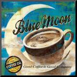Blue Moon Coffee Mounted Print by Maria Donovan