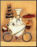 Wine Peddler Mounted Print by Jennifer Garant