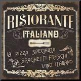 Italian Cuisine I Mounted Print by  Pela