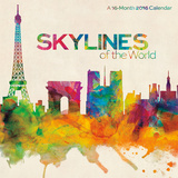 Skylines of the World by Michael Tompsett - 2016 Calendar Calendars
