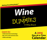 Wine For Dummies - 2016 Daily Boxed Calendar Calendars