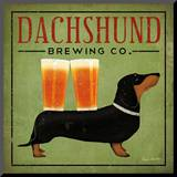 Dachshund Brewing Co. Mounted Print by Ryan Fowler