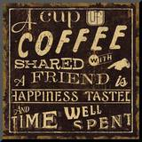 Coffee Quote I Mounted Print