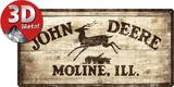 John Deere Logo 1937 - Metal Tabela