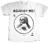 Against Me! -Skullhead Drawing T-Shirt