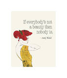 Everybody's Not a Beauty (Fashion) Giclee Print by Andy Warhol