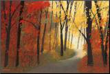 Autumn Road Mounted Print by Lynn Krause
