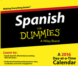 Spanish For Dummies - 2016 Daily Boxed Calendar Calendars