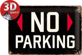No Parking Tin Sign