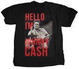 Johnny Cash - Hello I'm Johnny T-shirts