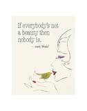Everybody's Not a Beauty (Bird) Poster von Andy Warhol