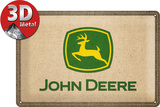 John Deere Patch Logo - Metal Tabela