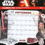 Star Wars Episode VII - 2016 Calendar Pad Calendars
