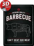 Barbecue Bull Plaque en métal