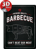 Barbecue Bull Tin Sign