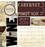 Wine by Lisa Wolk - 2016 Spiral Bound Calendar Calendars