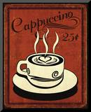 Retro Coffee III Mounted Print by N. Harbick