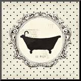 Cartouche Bath Mounted Print by Emily Adams