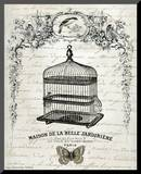 French Birdcage II Mounted Print by Gwendolyn Babbit