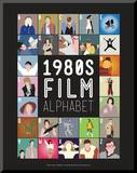 1980s Film Alphabet - A to Z Mounted Print by Stephen Wildish