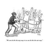 """We can do this the easy way or we can do this the cute way."" - New Yorker Cartoon Premium Giclee Print by Benjamin Schwartz"